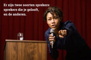 authenticiteit voor sprekers noodzakelijk